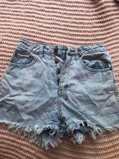 Ksubi high waisted denim shorts