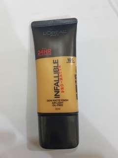 Foundation Loreal Infallible Pro-matte 24HOUR shade 105 Natural Beige