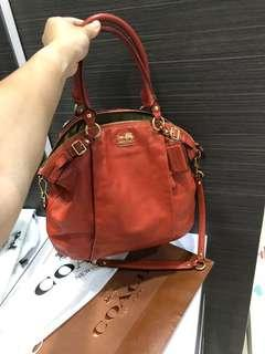 Coach authentic leather size Large