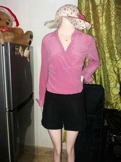 Wrap around Pink Top