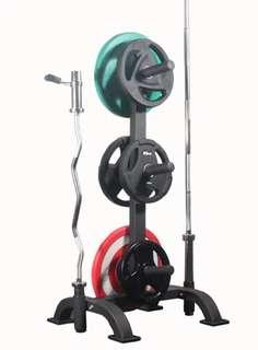 Weights plates rack vertical tree Olympic 5cm diameter