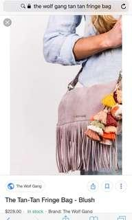 Wolf gang tan tan tassel bag