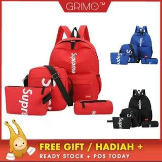 (READY STOCK)Super 4 in 1 Backpack Purse Bag Pack Sling