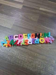 Fabric Alphabets On Peg