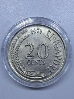 XF condition 20 cents coin