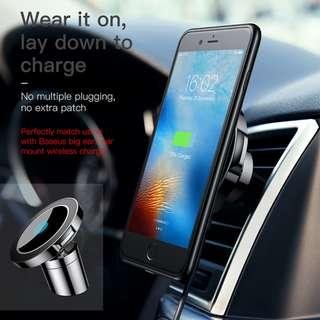 Baseus Big Ear 2 in 1 Magnetic Wireless Car Charger