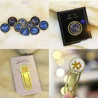 EXO @pinkeclipse_id bookmark and zodiac pins