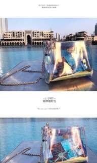 EXO Baidu Bar Daybreak Holographic Bag, Ring & Earring