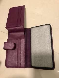 志在循環再用唔好浪費-iPhone 6Plus紫色手機殼連銀包