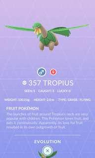 Pokemon go Tropius 熱帶龍