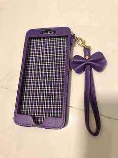 志在循環再用唔好浪費-iPhone 6Plus紫色手機殼連手帶