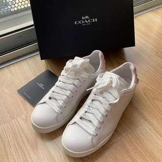 AUTHENTIC COACH Leather Shoes Sneakers Trainers Size 38 / 8