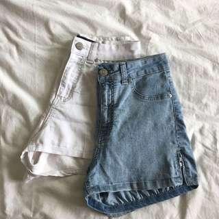 factorie high waisted side zip shorts
