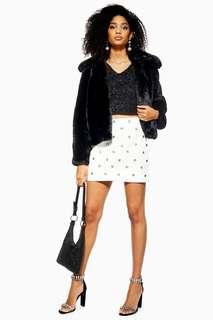 Bnwt topshop embelished white skirt