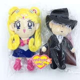 Sailormoon 月野兔 禮服矇面俠 地場衛 公仔一對