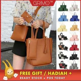 (READY STOCK) GRIMO 4 in 1 Sammi Bag Shoulder Sling Tote Purse Handbag