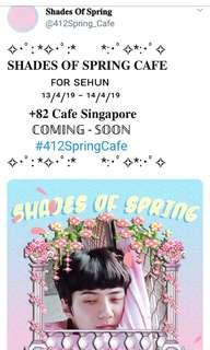 SHADES OF SPRING CAFE EVENT FOR SEHUN