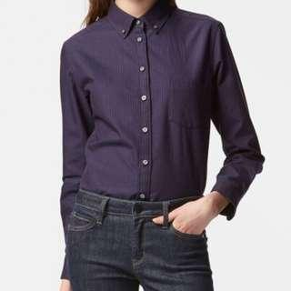 Brand New Uniqlo Oxford Long Sleeve Top Size M