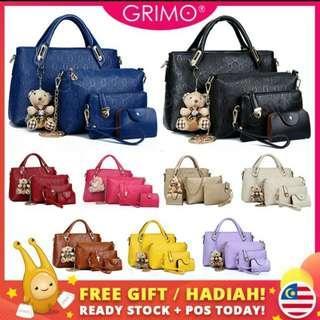 (READY STOCK) GRIMO 5 in 1Handbag Bear Shoulder Bag