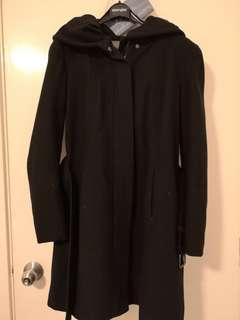 Black Zara Wool Winter Coat (size L)