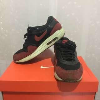 Original Nike Airmax 1 Essential Blk and Red