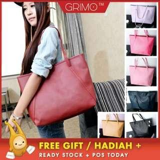(READY STOCK) GRIMO Casual Zip Shoulder Handbag