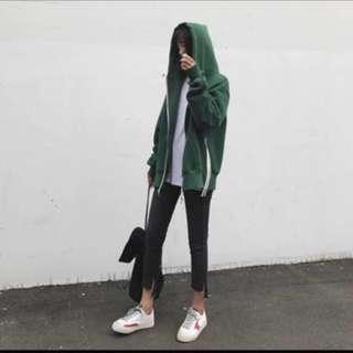 🚚 綠棉質運動外套