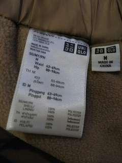 Brand new Uniqlo M size warmer pants