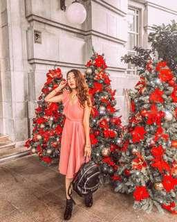 Alyssa Ruffles Jumpsuit in Rose Pink by Lovengold