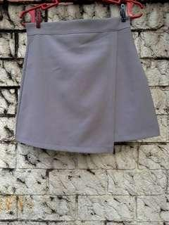 Gray Overlapping Skirt