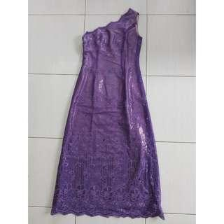 Dress Pesta One Shoulder