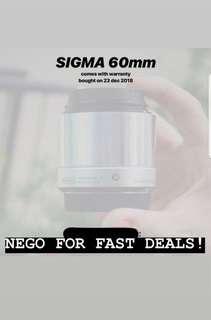 Sigma 60mm Lens