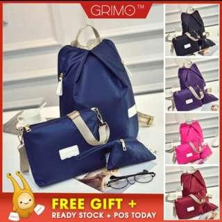 (READY STOCK) GRIMO 3 in 1 Travel Backpack Bag
