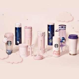 Limited Items Left! Starbucks Korea 2019 Golden Pink Dream Flying New Year Collection