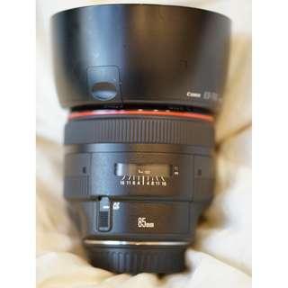 Canon 85mm 1.2L mkII