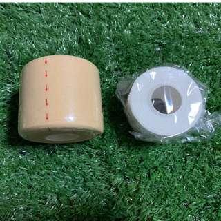 3.8cm x 9.1m 白色運動硬tape 綳帶(可加皮膚膜打底) - White Sports Rigid Zinc Oxide Tape for Football Volleyball Basketball Cricket Badminton Rugby Goalkeeper Netball with add-on Foam Pre-Wrap Bandage
