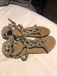 New Look Snake Print Sandals