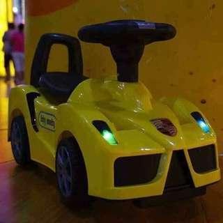Yellow Ferrari Tolocar Push Car Ride On Car
