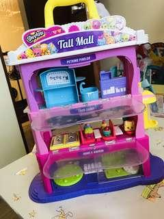 shopkins TALL MALL with 6pc free shopkins figures
