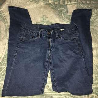 &denim low waist skinny jeans