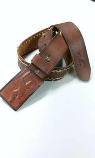 Hollister Leather Wrapped Buckle Vintage Leather Belt NEW