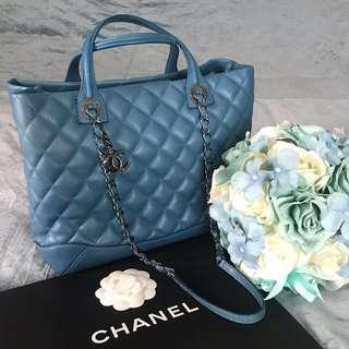 Chanel Tote Bag in Quilted Lambskin with Ruthenium Hardware (💯% Authentic with Chanel NAC Receipt)