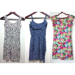 Dresses, skirts and tops