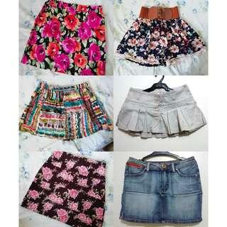Skirts, tops and dresses