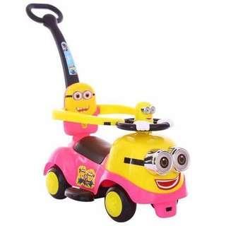Pink Minions Tolocar Push Car Ride On Trolley Car