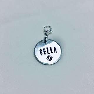 Cat Tag (Hand Stamped)