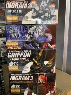 Bandai MG Gundam & Patlabor kits