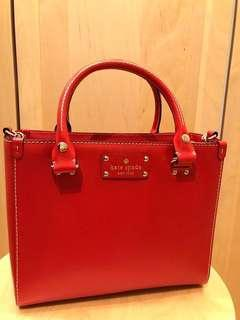 Authentic Kate Spade Red Orange Handbag