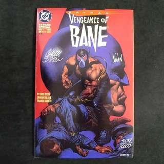Batman: Vengeance of BANE (1993) 1st appearance of BANE *** signed by Chuck Dixon & Graham Nolan *** DC Comics