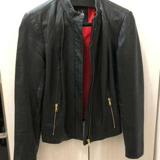 Armani Exchange皮䄛 leather jacket